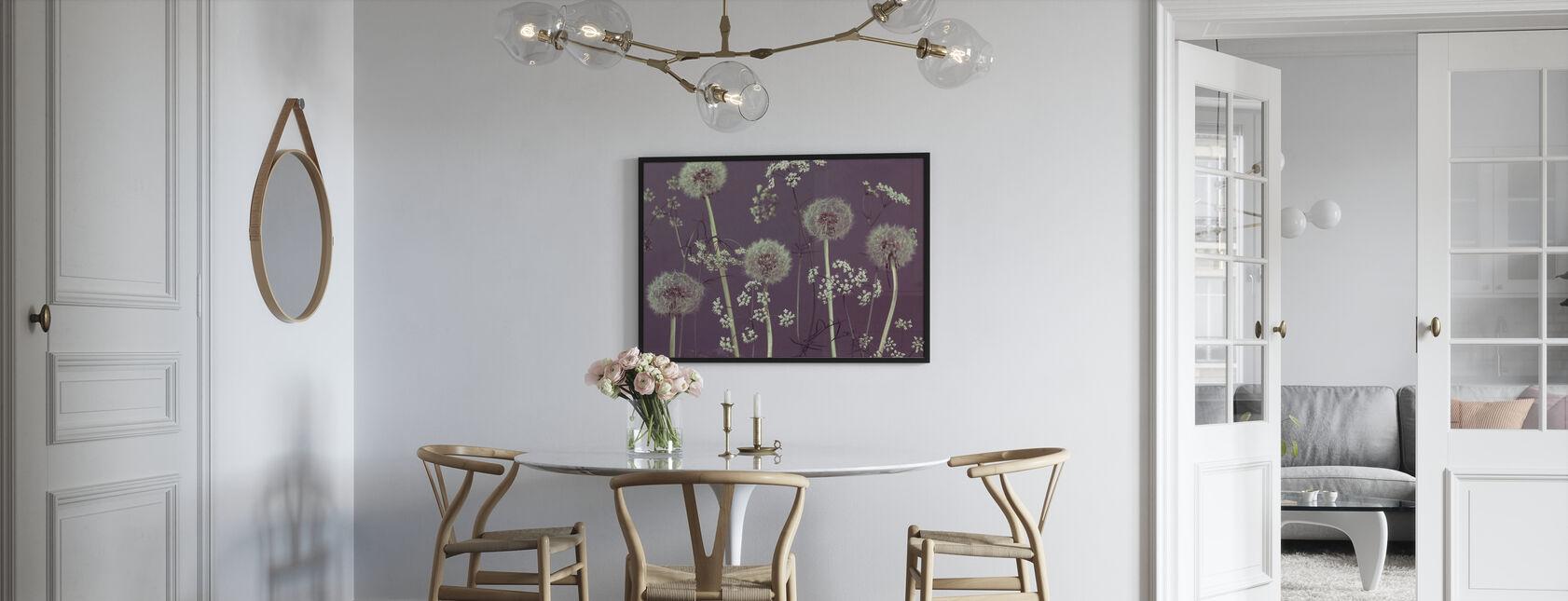 Weide Bloemen - Paars - Poster - Keuken