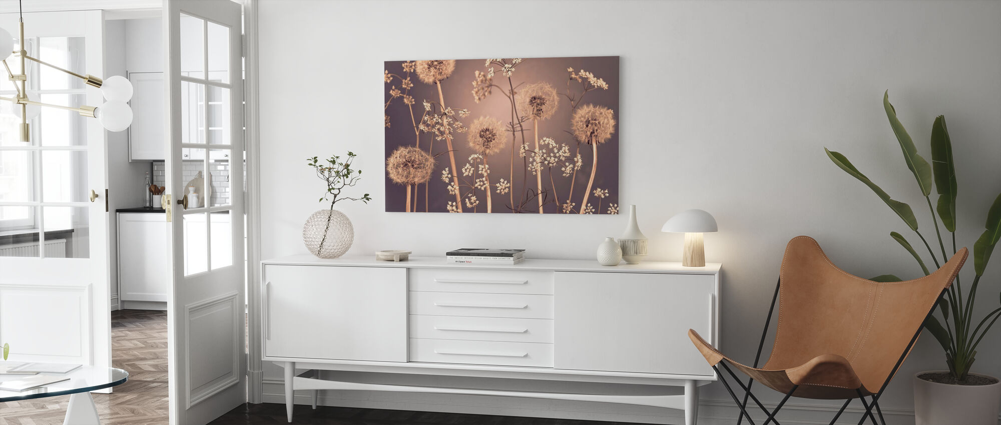 Weide Bloemen - Canvas print - Woonkamer
