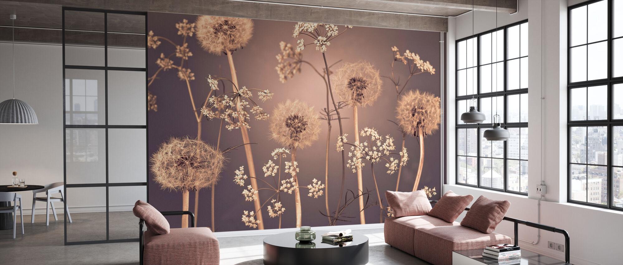 Meadow Flowers - Wallpaper - Office