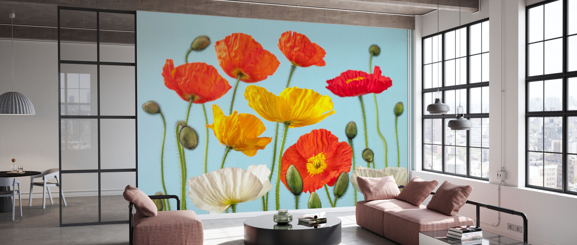 Poppies - Colorful - Wallpaper - Office