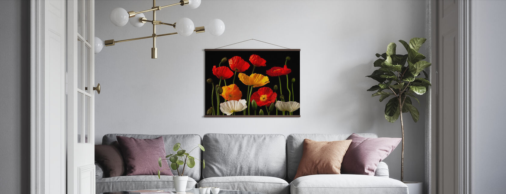 Poppies - Dark - Poster - Living Room