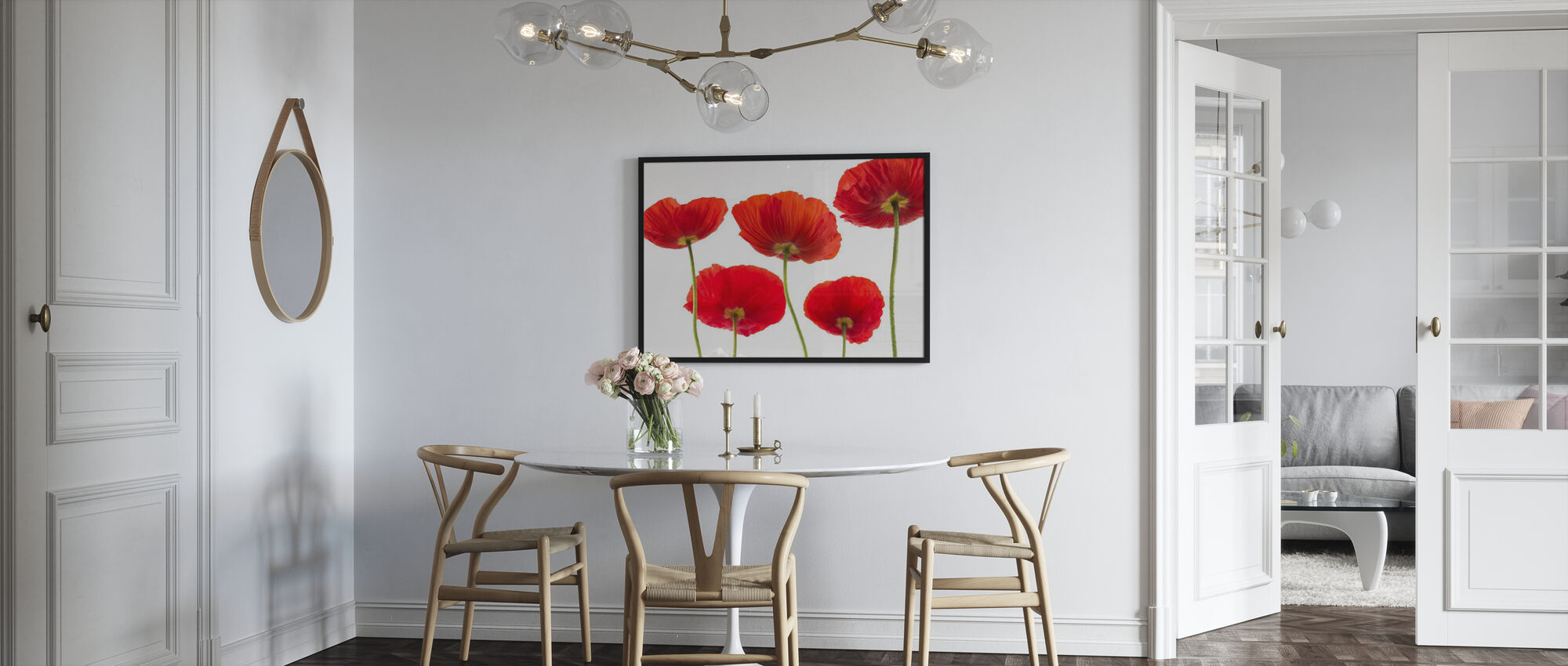 Poppies - Red - Poster - Kitchen