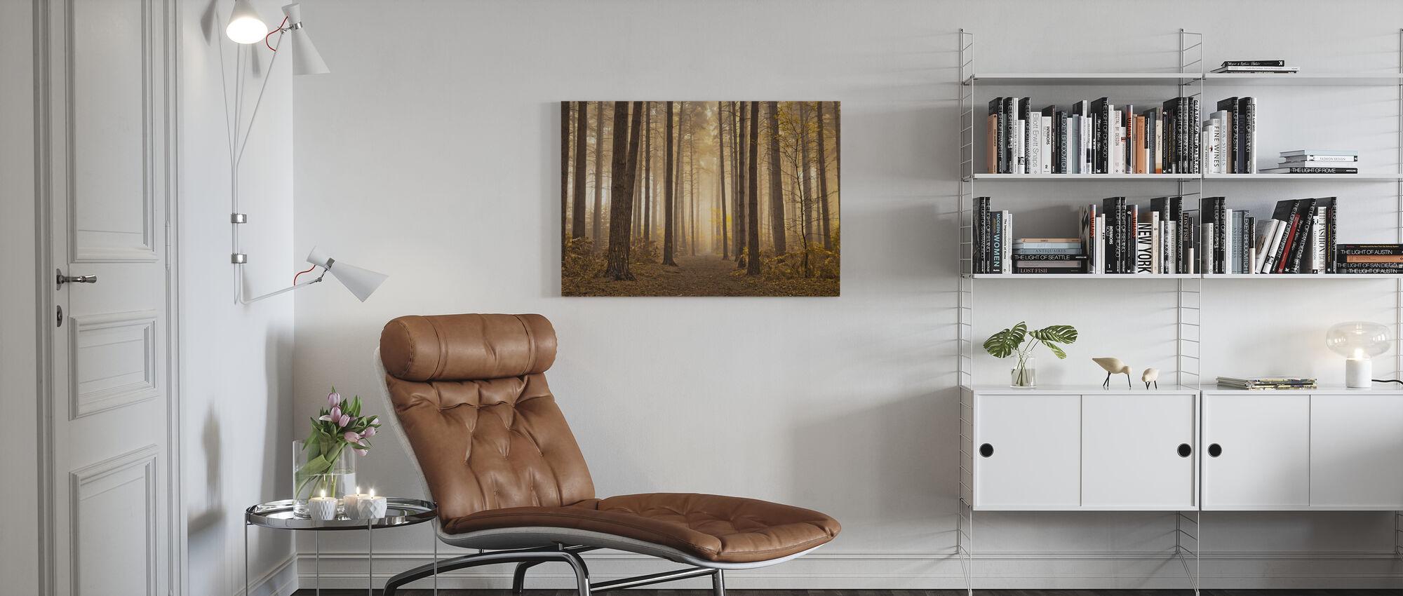 Misty Trees - Canvas print - Living Room