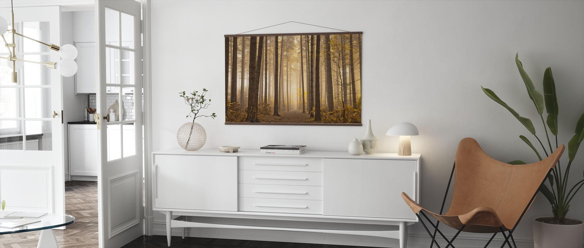 Misty Trees - Poster - Living Room