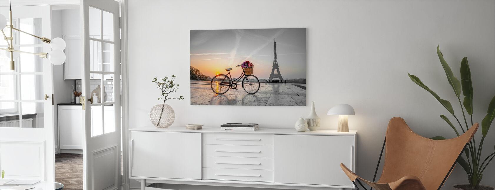 Sykkel Paris - Lerretsbilde - Stue