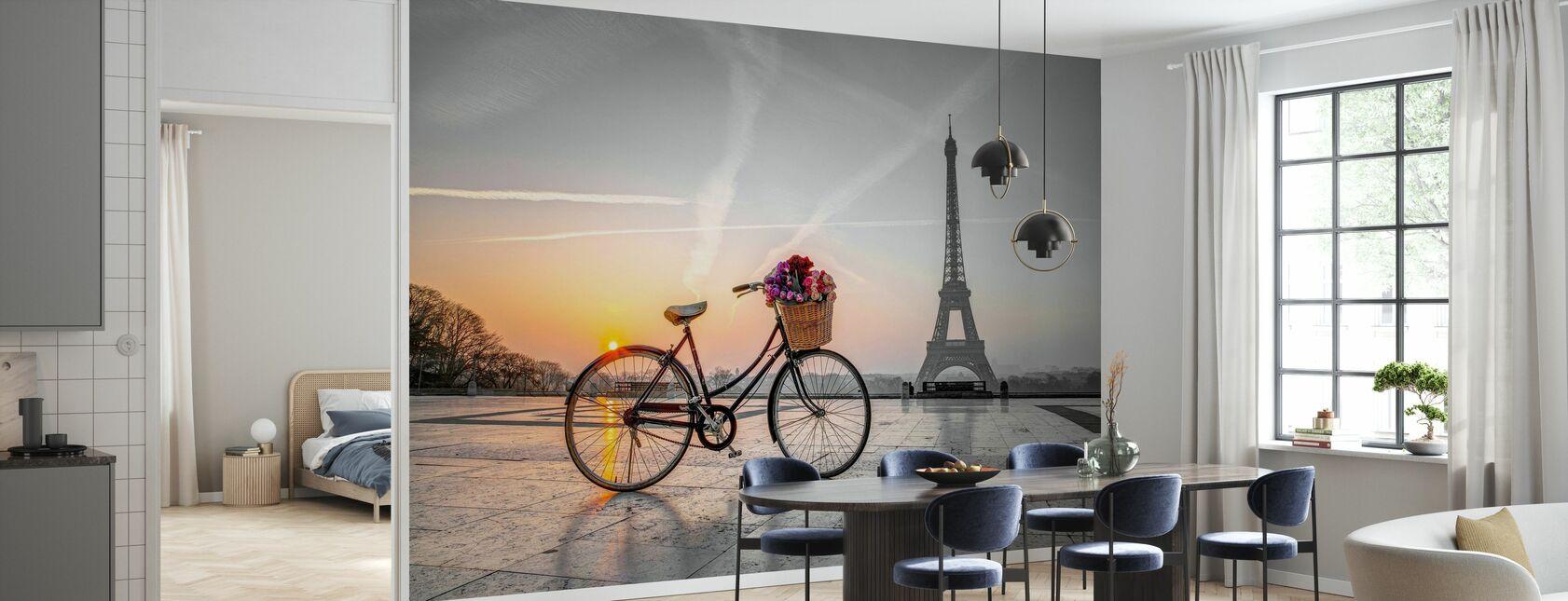 Bicicleta París - Papel pintado - Cocina