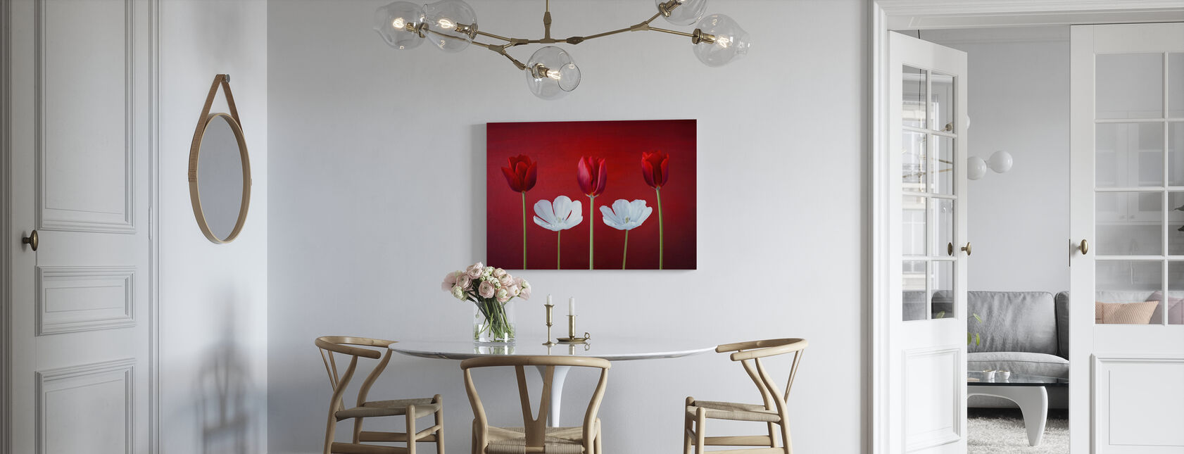 Tulips Arrangement - Canvas print - Kitchen