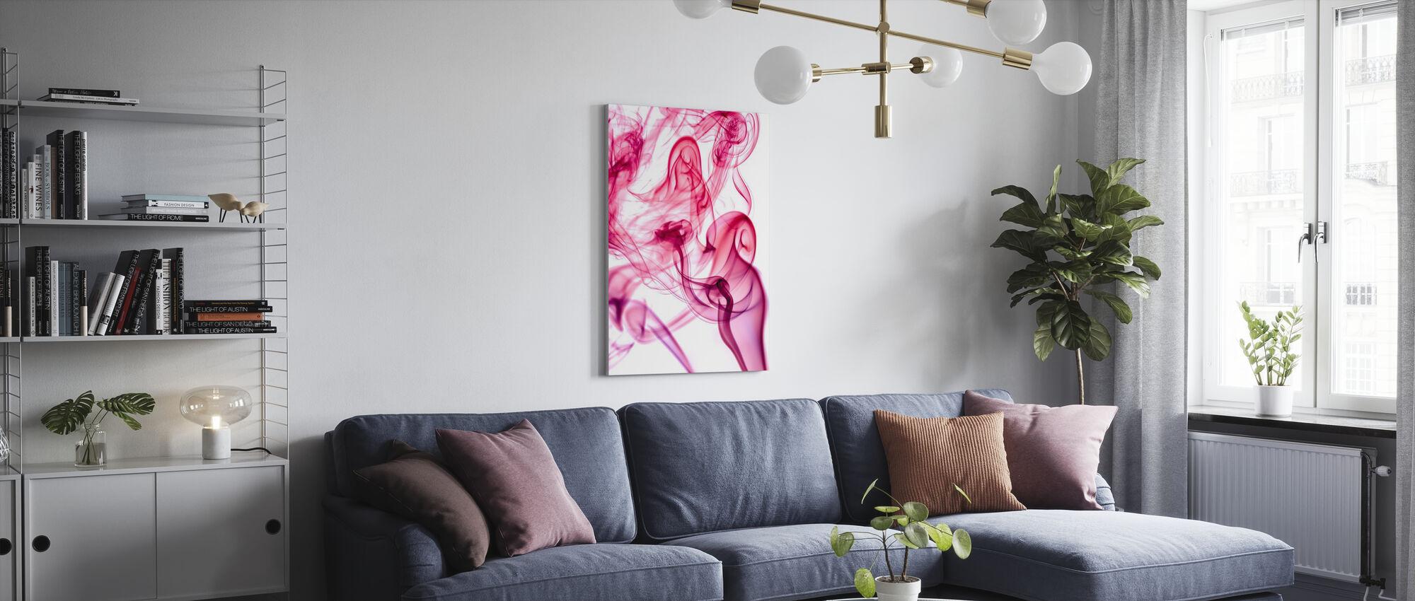 Abstract Smoke - Canvas print - Living Room