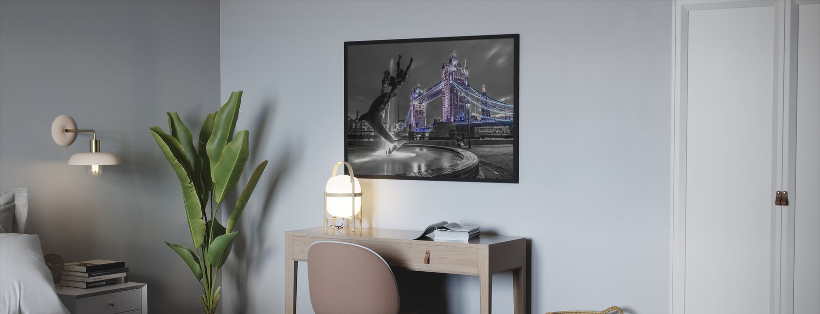 Tower Bridger på natten - London - Plakat - Soverom