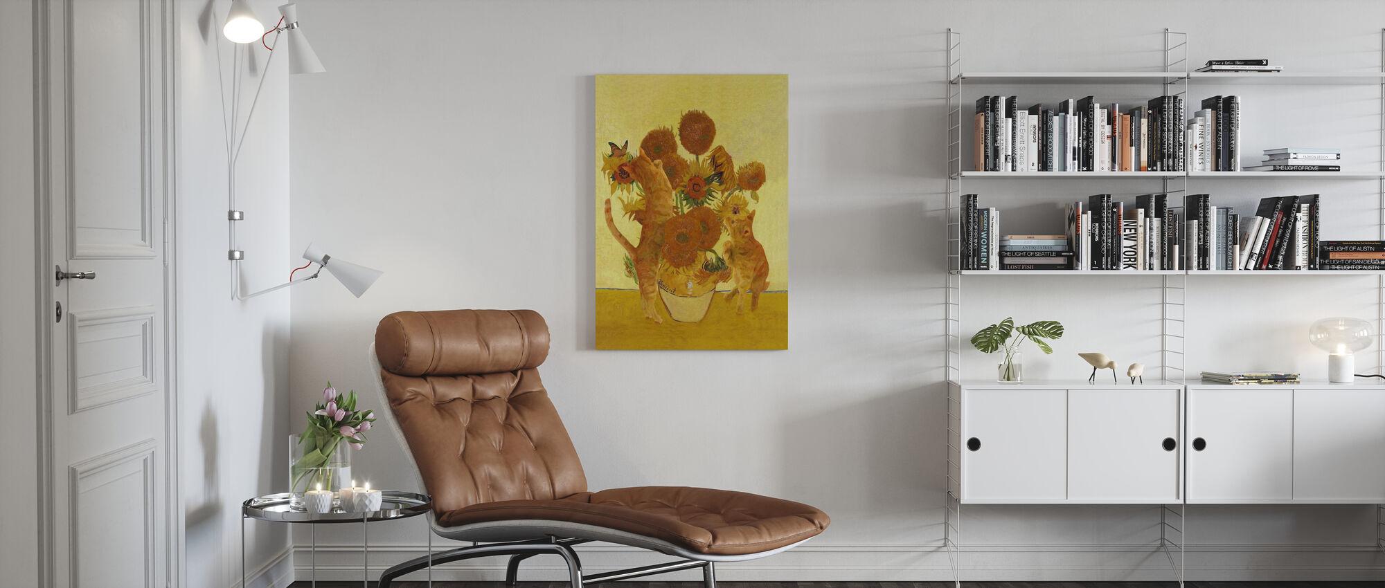 Vangogh Cats - Canvas print - Living Room
