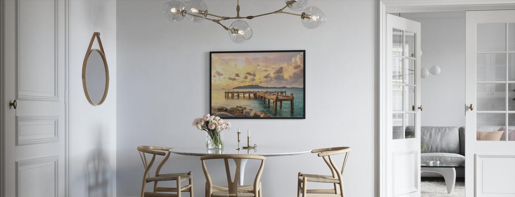 Tangerine Light - Framed print - Kitchen