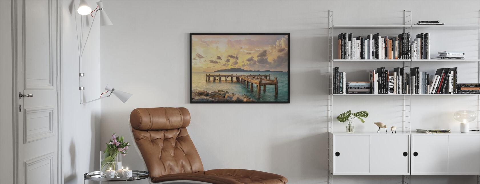 Tangerine Light - Framed print - Living Room