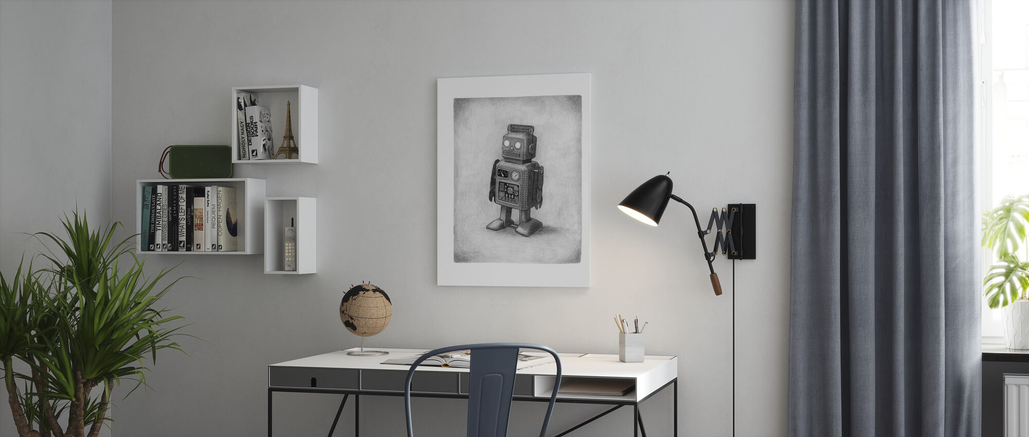 Lonely Robot - Canvas print - Office