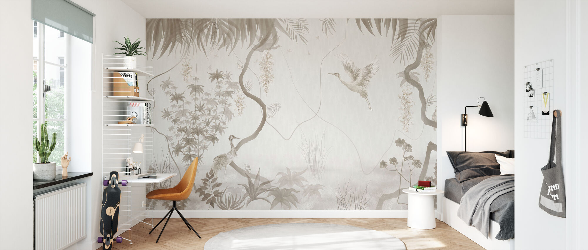 Tranquil Scenery - Sepia - Wallpaper - Kids Room