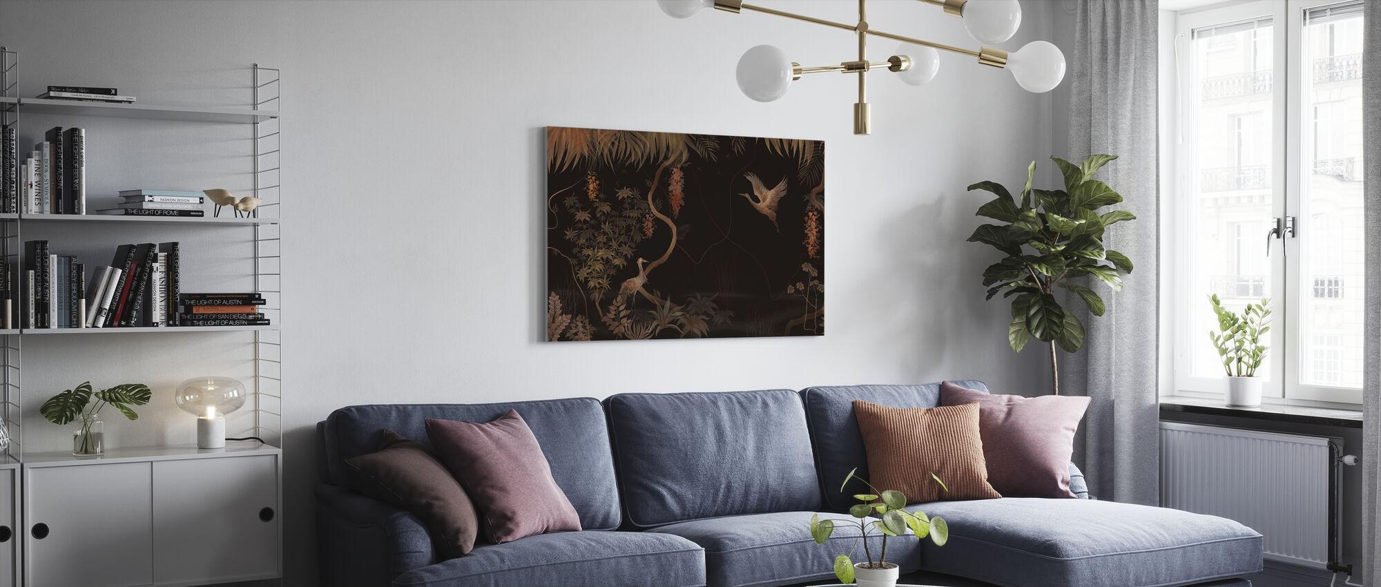 Tranquil Scenery - Dark Hazel - Canvas print - Living Room