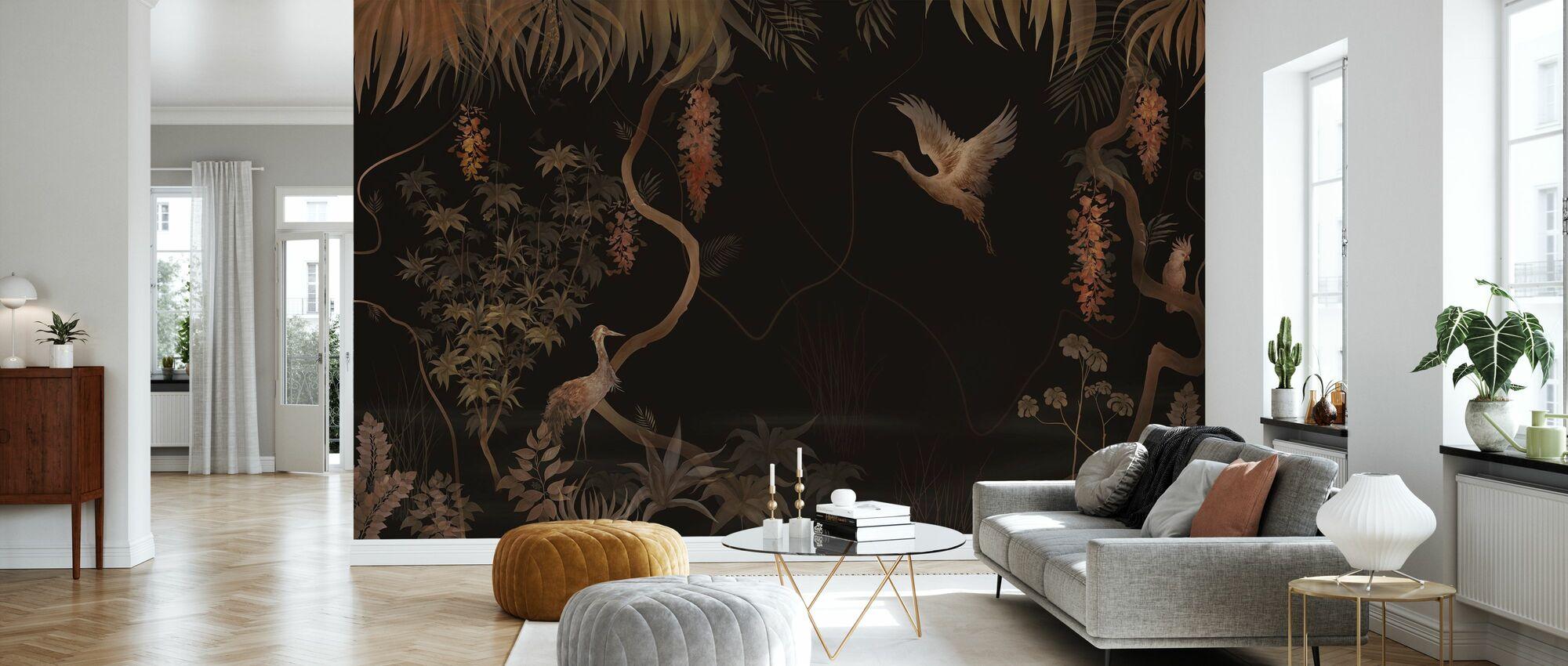 Tranquil Scenery - Dark Hazel - Wallpaper - Living Room