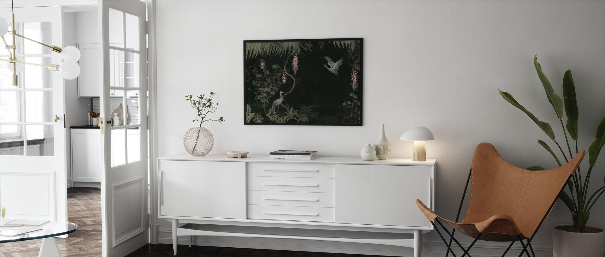 Rustig landschap - Donkere Salie - Ingelijste print - Woonkamer