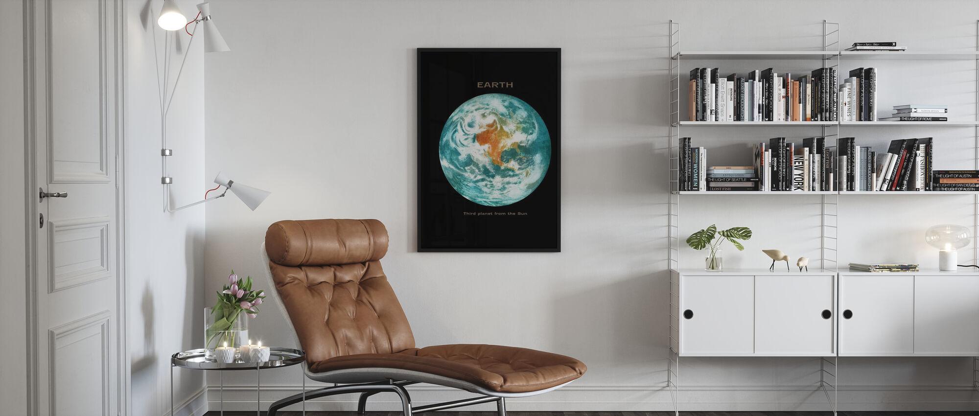 Aurinkokunta - maa - Kehystetty kuva - Olohuone