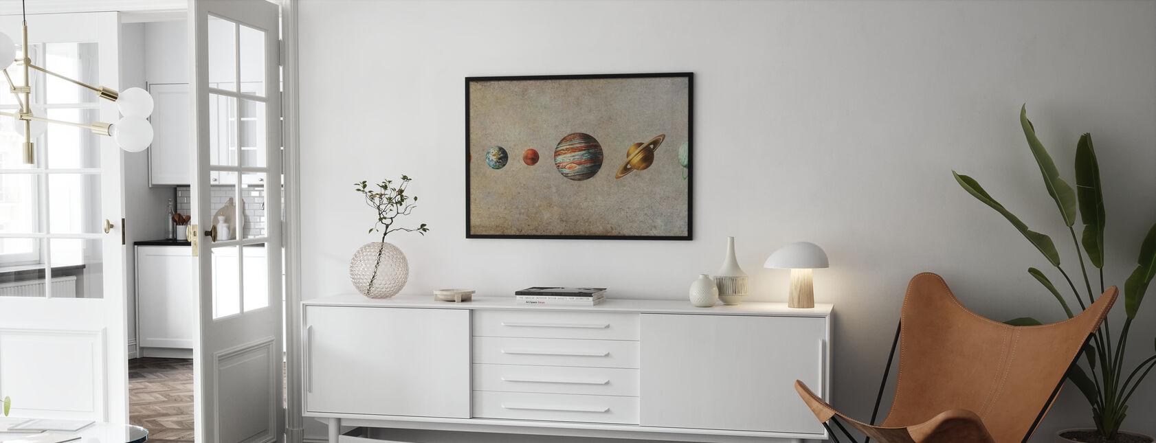 Sonnensystem - Sepia - Poster - Wohnzimmer