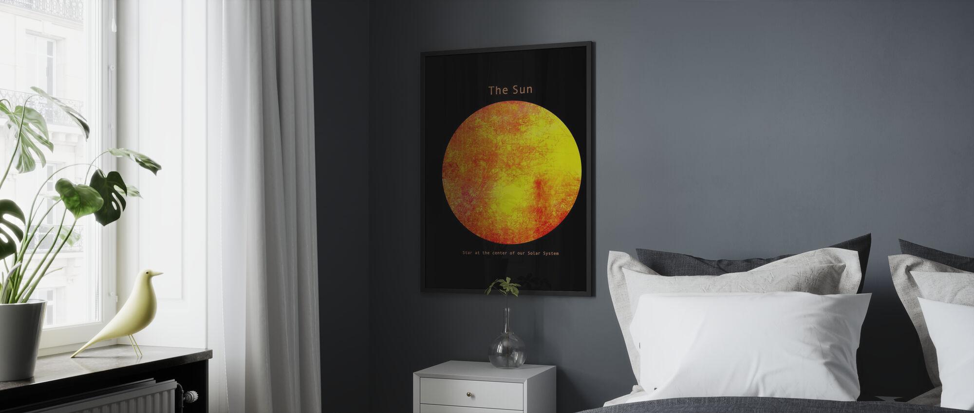 Aurinkokunta - Aurinko - Kehystetty kuva - Makuuhuone
