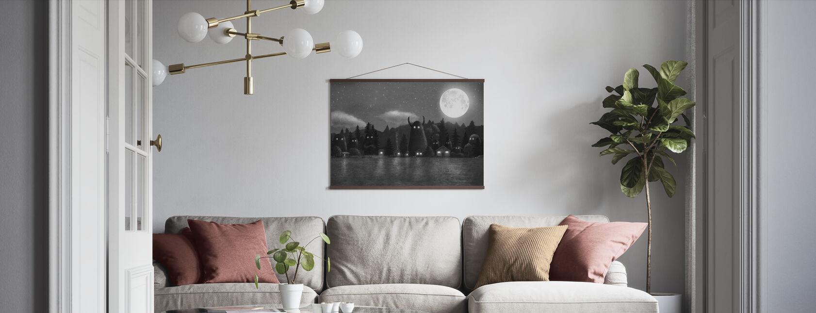 Mørkeste Mørk - Cover Mono - Plakat - Stue