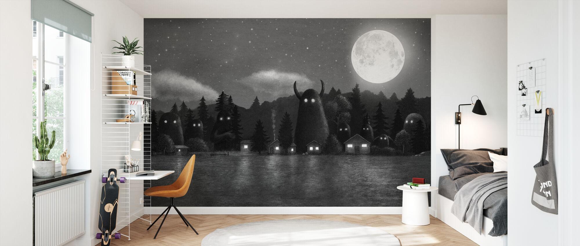 Mørkeste mørke - Cover Mono - Tapet - Barnerom