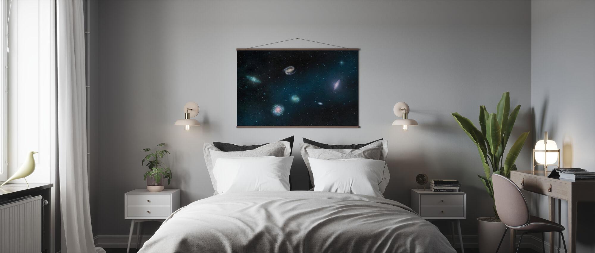 Darkest Dark - Galaxies - Poster - Bedroom