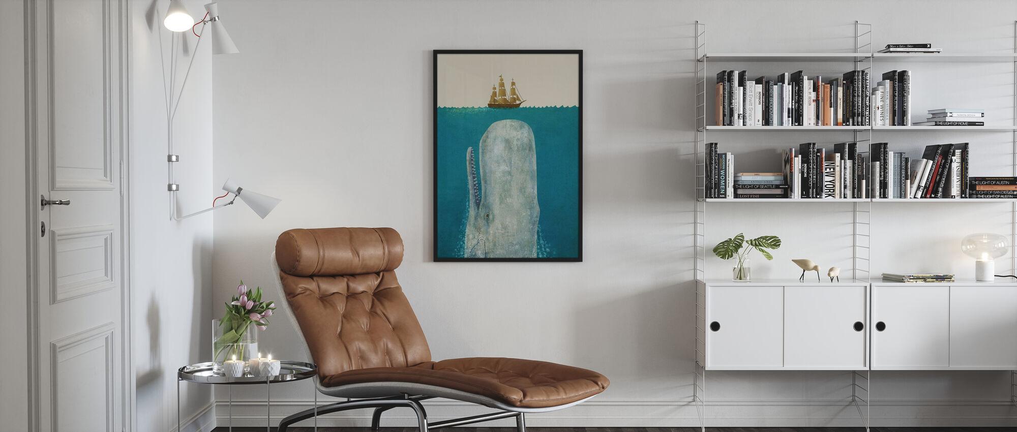 Whale - Framed print - Living Room
