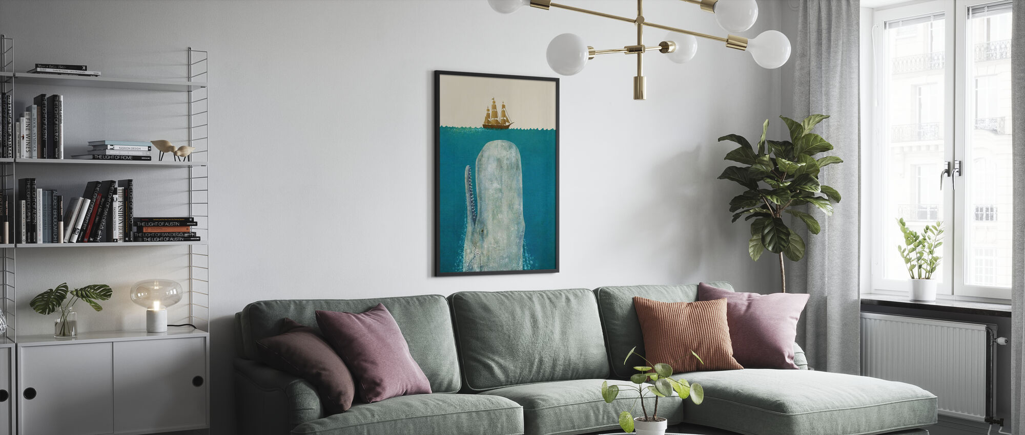 Whale - Poster - Living Room