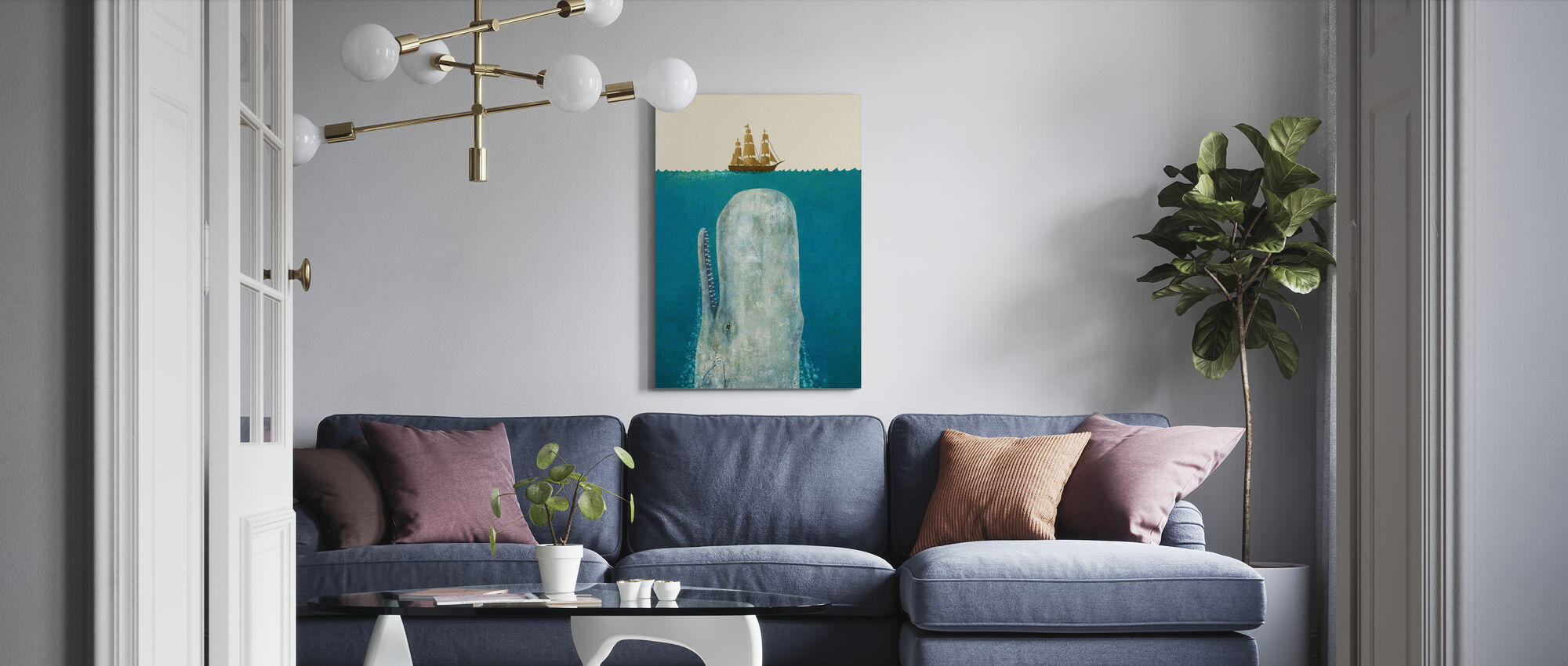 Whale - Canvas print - Living Room