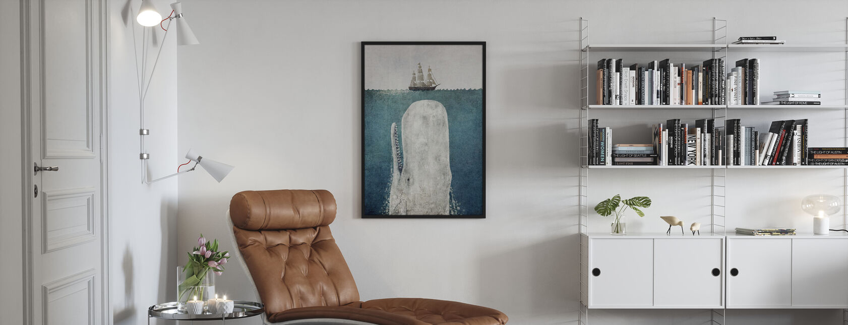 Whale Vintage - Framed print - Living Room