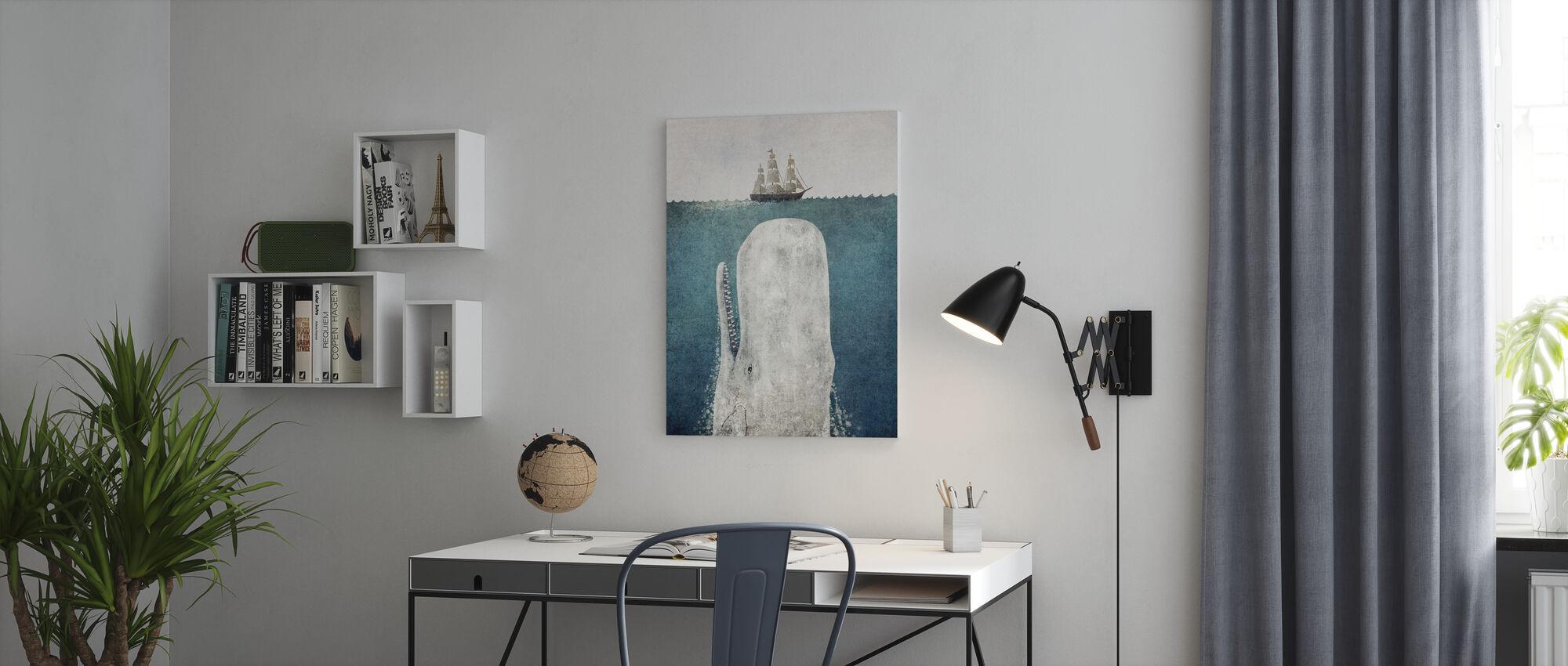 Whale Vintage - Canvas print - Office