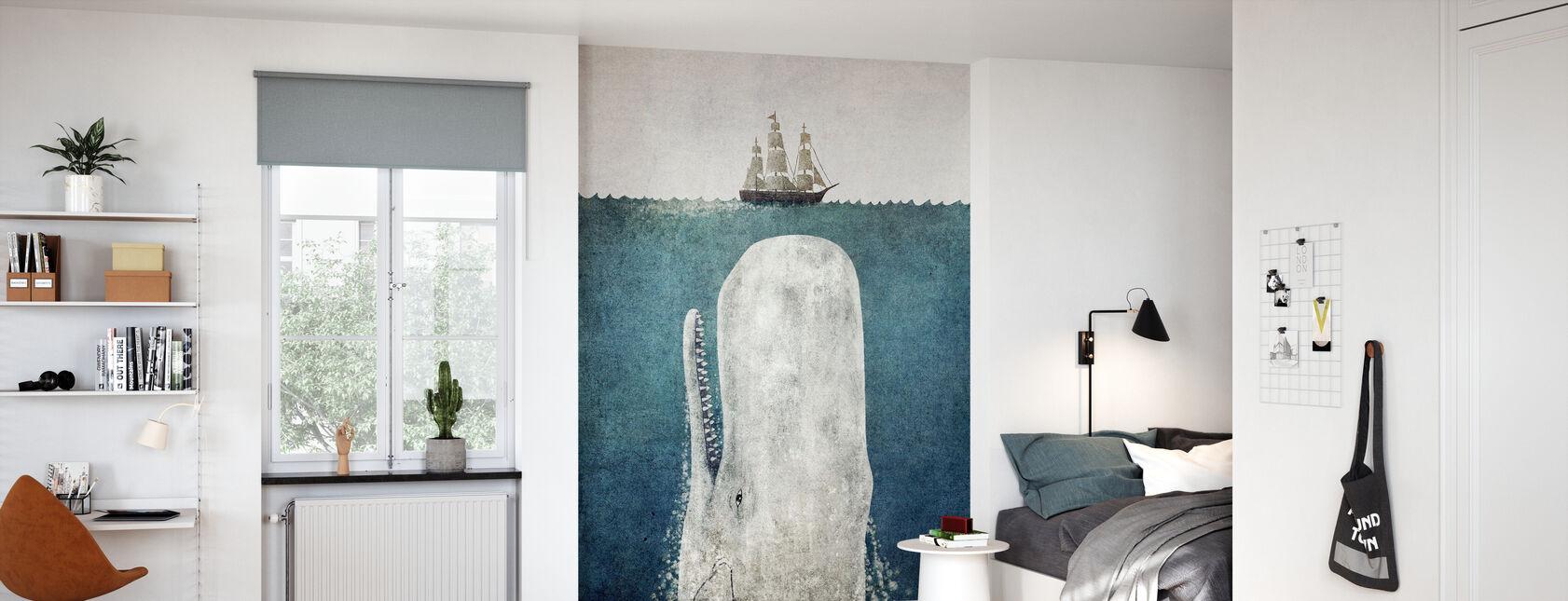 Whale Vintage - Wallpaper - Kids Room