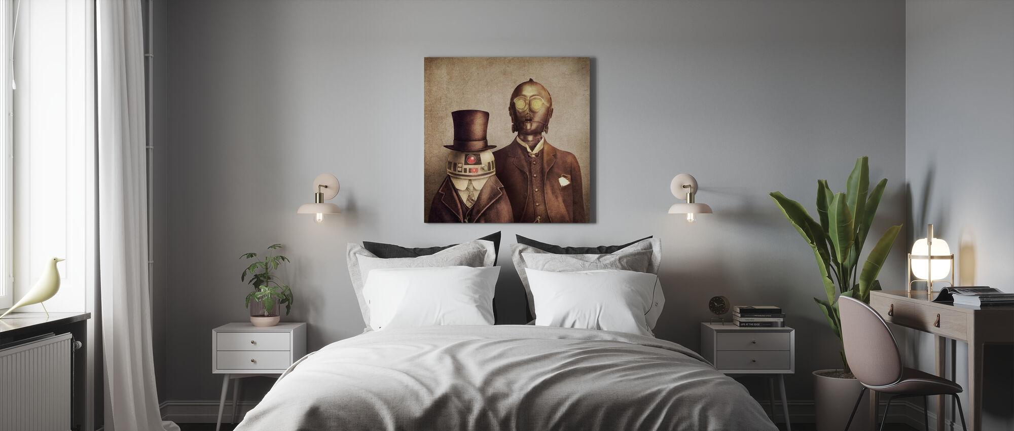 Victorianske robotter - Billede på lærred - Soveværelse