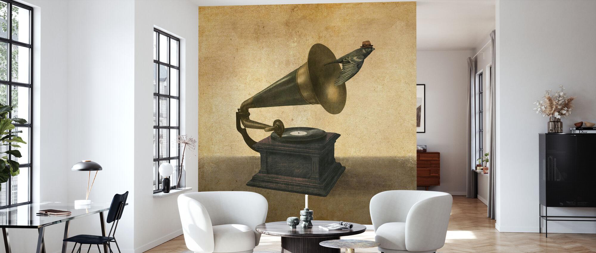 Vintage Songbird - Tapete - Wohnzimmer