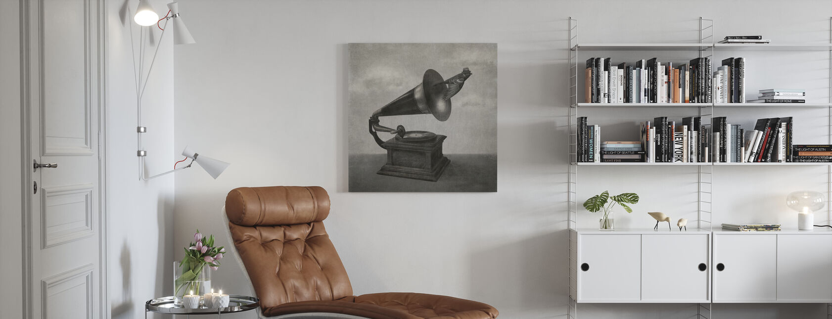 Vintage Songbird Mono - Canvas print - Living Room