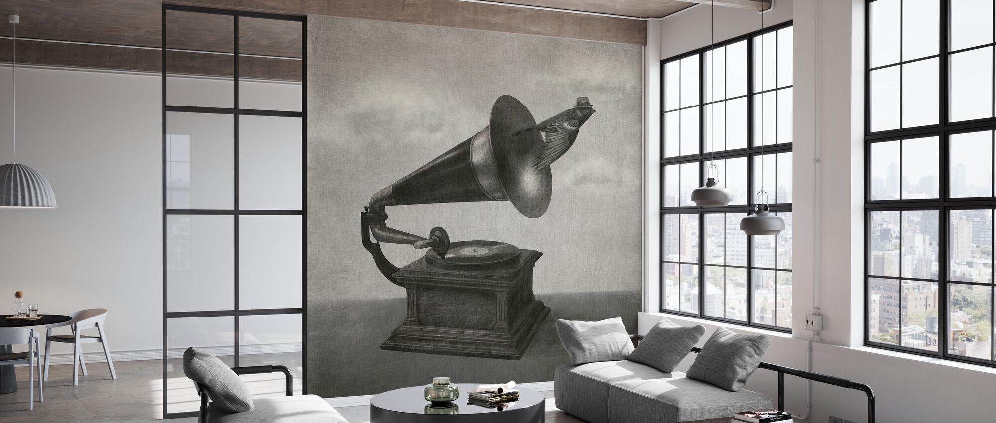 Vintage Songbird Mono - Tapete - Büro