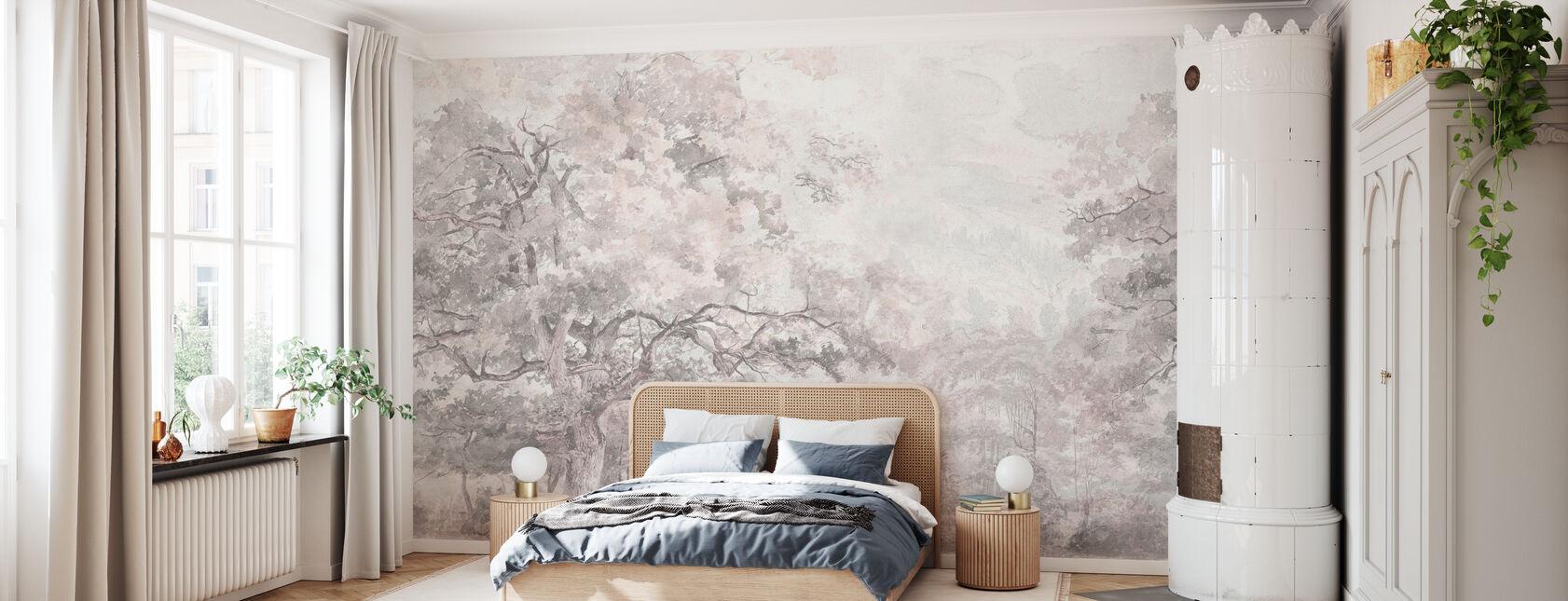 Belleza en todas partes - Rosa - Papel pintado - Dormitorio
