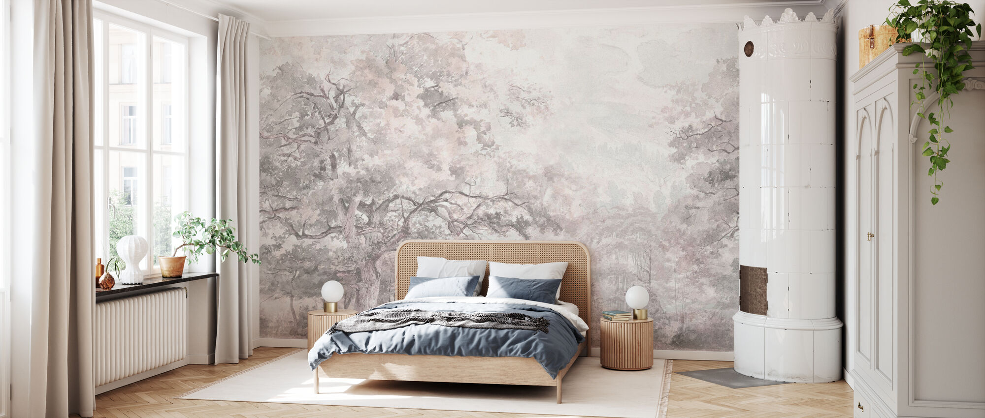 Schoonheid Overal - Roze - Behang - Slaapkamer