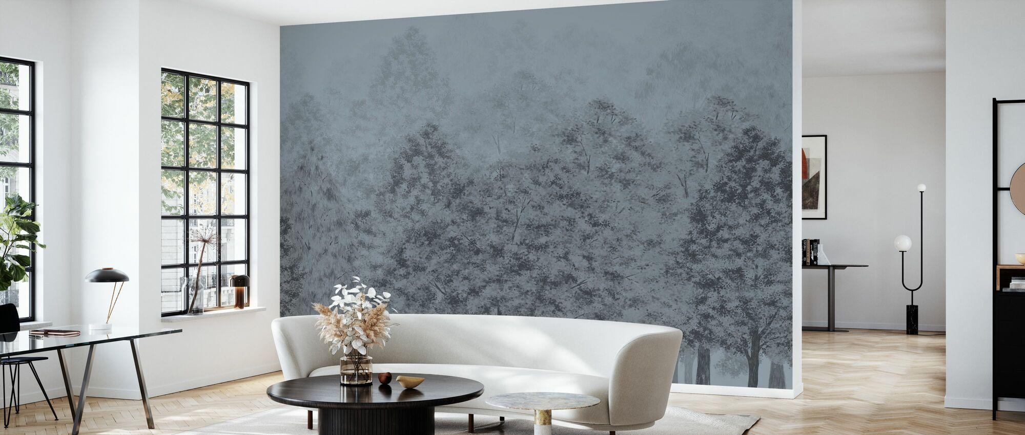 Dusk and Dawn - Blue - Wallpaper - Living Room