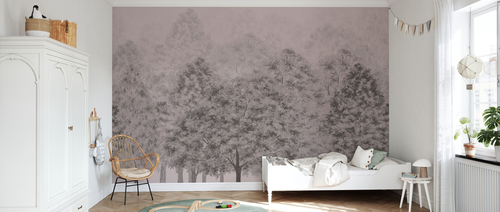 Dusk and Dawn - Pink - Wallpaper - Kids Room