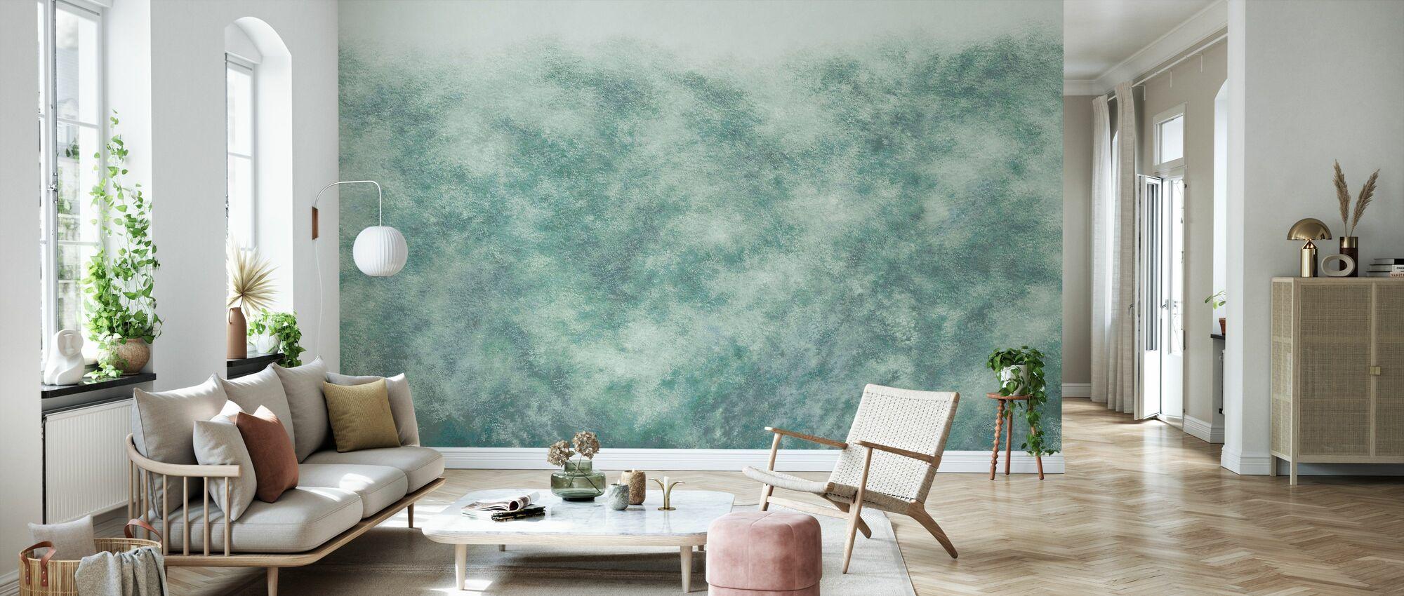 Flutter - Green - Wallpaper - Living Room