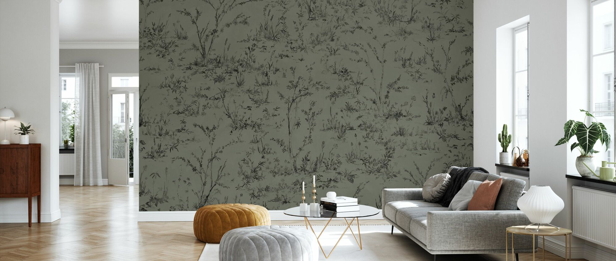Wonder - Kaki - Wallpaper - Living Room