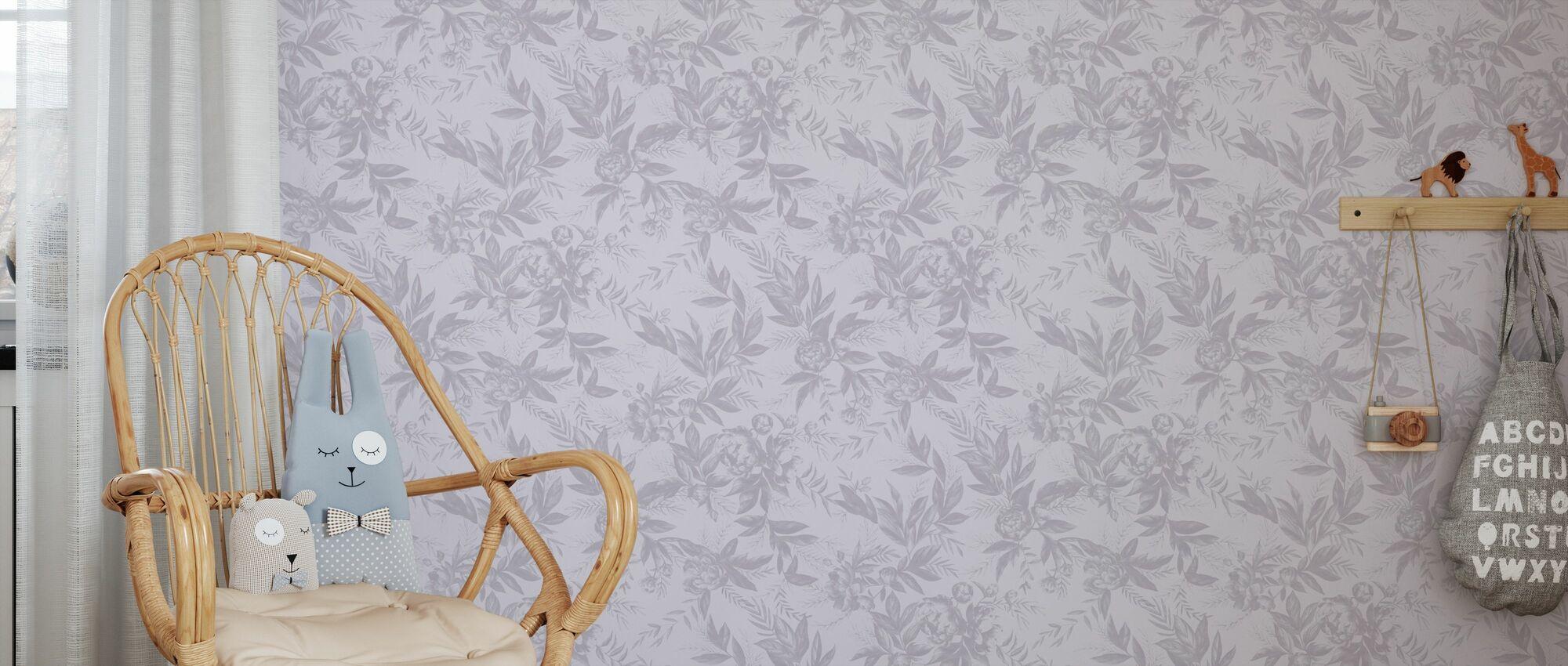 Beauté oubliée - Lavande - Papier peint - Chambre des enfants