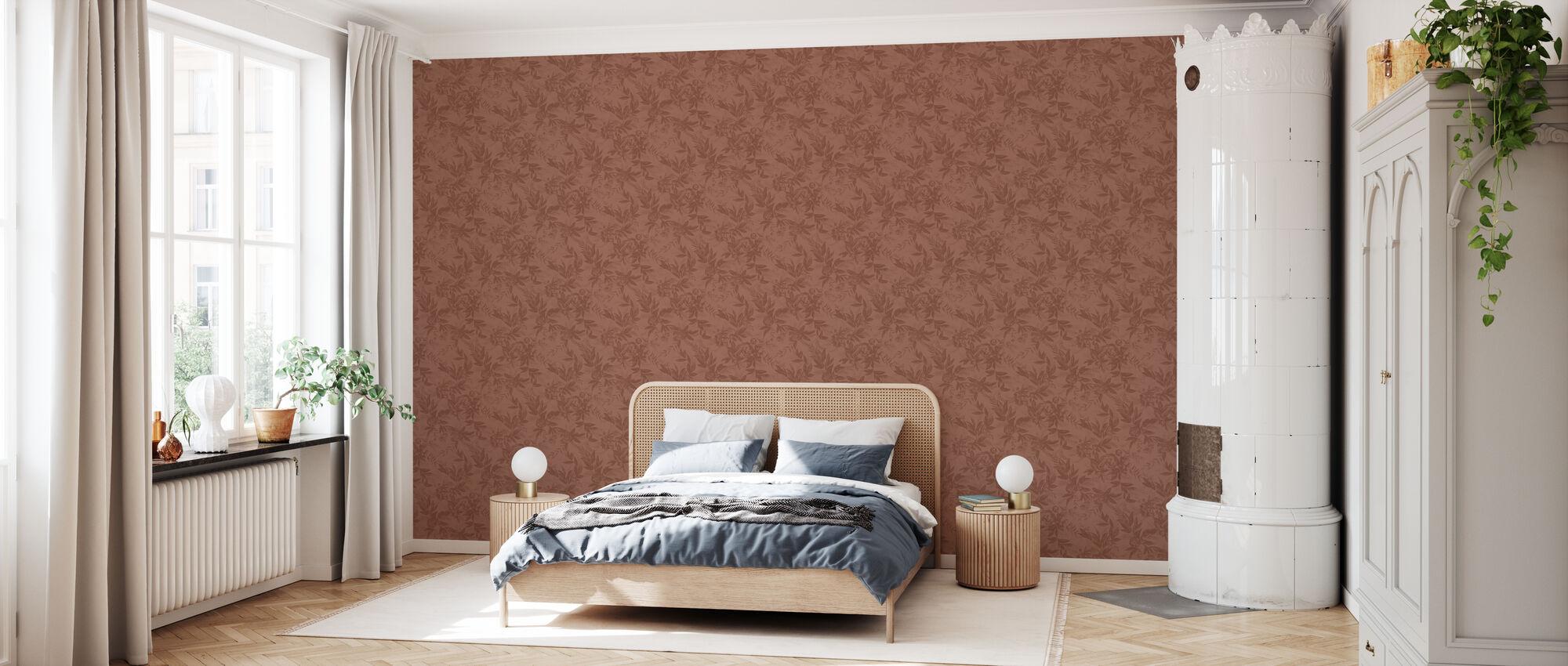 Forgotten Beauty - Terracotta - Wallpaper - Bedroom