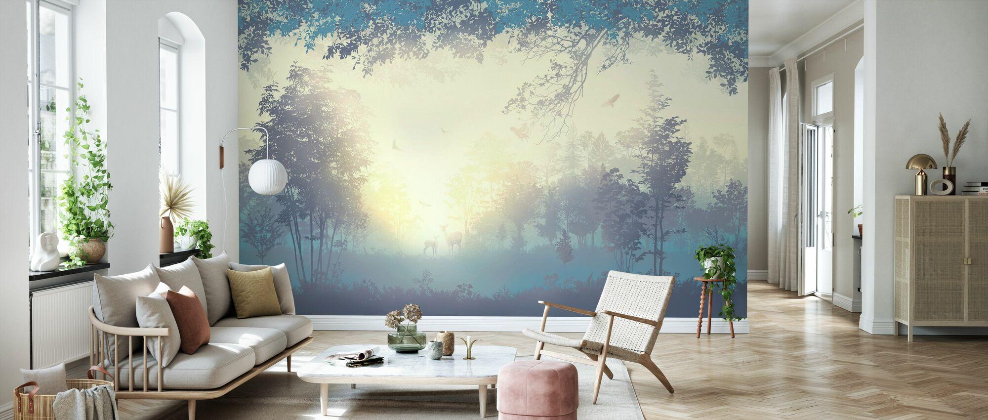Deers in Forest - Wallpaper - Living Room