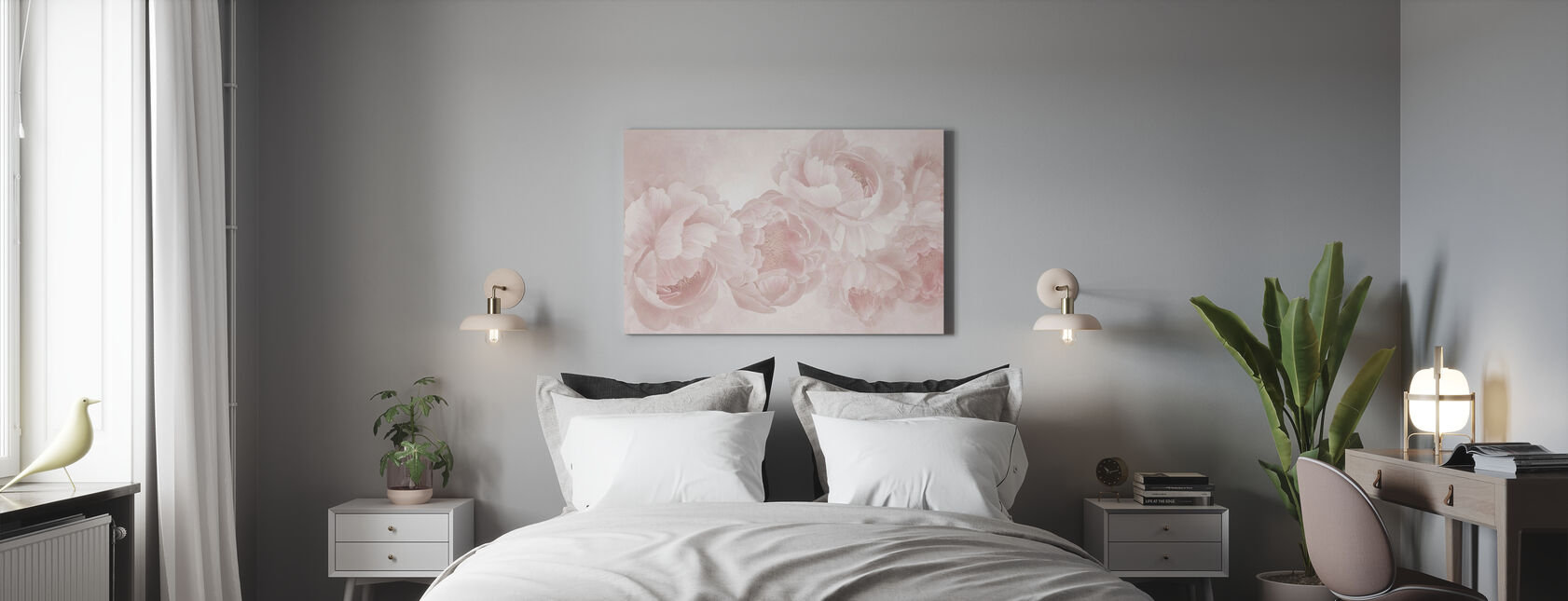 Peony - Canvas print - Bedroom