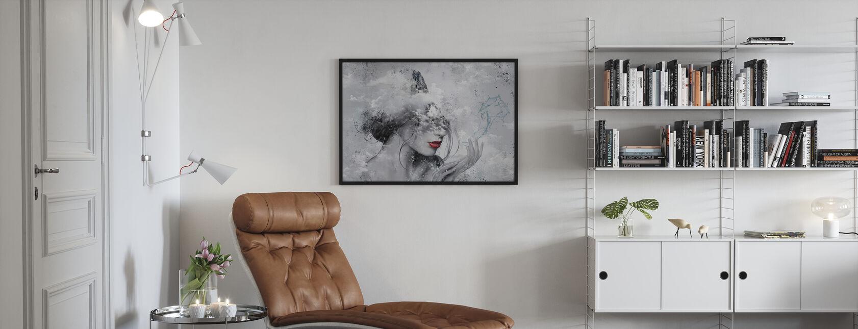 Delphic Lady II - Innrammet bilde - Stue