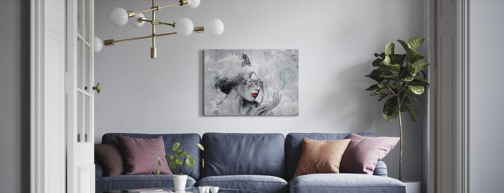 Delphic Lady II - Canvas print - Living Room