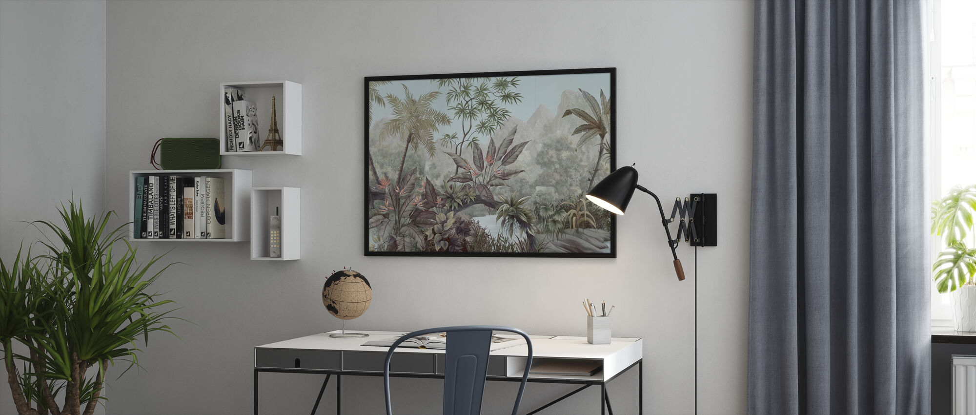 Tangled Jungle - Framed print - Office